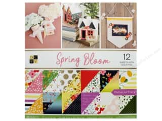 die cuts: DieCuts Stacks Paper 12 in. x 12 in. Spring Bloom Foil Gold