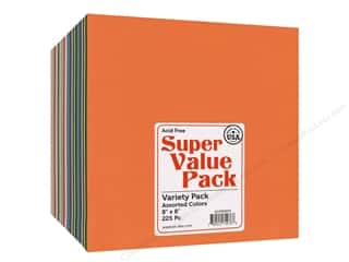 Paper Accents Cardstock 8 x 8 in. Super Value Variety Pack 225 pc.