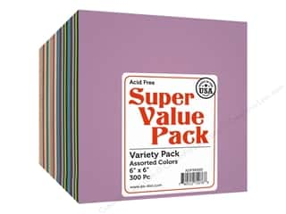 Paper Accents Cardstock 6 x 6 in. Super Value Variety Pack 300 pc.