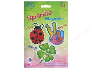 craft & hobbies: Diamond Dotz Sparkle Magnet Kit - Luck