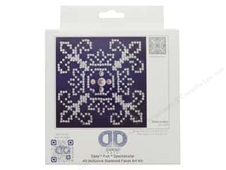 craft & hobbies: Diamond Dotz Beginner Kit - White On Blue