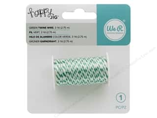 twine: We R Memory Tools Happy Jig Bakers Twine Wire Green 3 yd