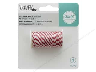 twine: We R Memory Tools Happy Jig Bakers Twine Wire Red 3yd