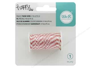 twine: We R Memory Keepers Happy Jig Bakers Twine Wire 3 yd. Peach