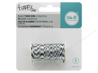 twine: We R Memory Tools Happy Jig Bakers Twine Wire Black 3 yd