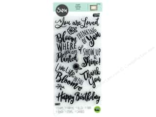 love sentiment stamp: Sizzix Stamp Lindsey Serata Clear Blooming Sentiments