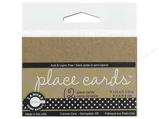 novelties: Canvas Corp Place Cards 12 pc Kraft (3 pieces)