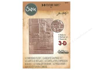 embossing folder: Sizzix Embossing Folders Tim Holtz 3D Texture Fades Foundry