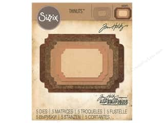 Clearance: Sizzix Tim Holtz Thinlits Die Set 5 pc. Stacked Label