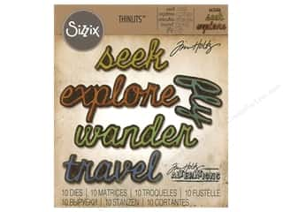 dies: Sizzix Dies Tim Holtz Thinlits Shadow Script #3