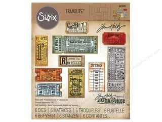Sizzix Tim Holtz Framelits Die Set 6 pc. Ticket Booth