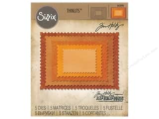 Clearance: Sizzix Tim Holtz Thinlits Die Set 5 pc. Stacked Postage