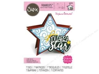 Clearance: Sizzix Dies Stephanie Barnard Framelits Fold It Star