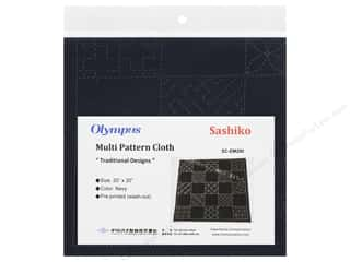 "yarn & needlework: Olympus Sashiko Cotton Cloth 20""x 20"" Pre Printed Navy"