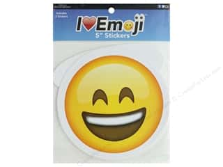 Everything Emoji Sticker Set 5 in. Laugh/Smile With Halo