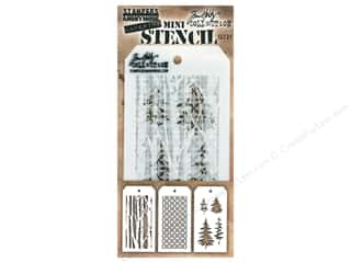 craft & hobbies: Stampers Anonymous Tim Holtz Layering Mini Stencil Set #21
