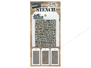 craft & hobbies: Stampers Anonymous Tim Holtz Layering Mini Stencil Set #28
