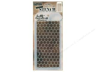 craft & hobbies: Stampers Anonymous Tim Holtz Layering Stencil - Honeycomb