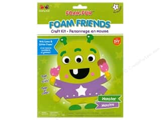 projects & kits: Multicraft Krafty Kids DIY Kit Foam Friend Monster