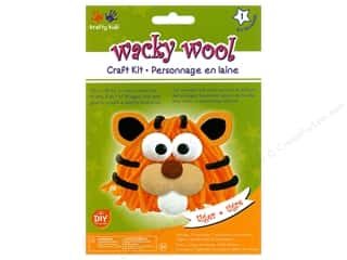 Multicraft Krafty Kids DIY Kit Wacky Wool Tiger