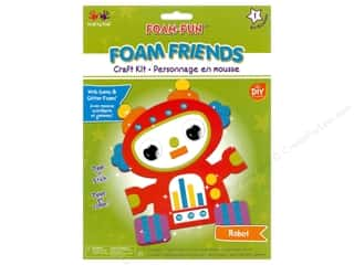 craft & hobbies: Multicraft Krafty Kids DIY Kit Foam Friend Robot