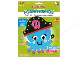 projects & kits: Multicraft Krafty Kids DIY Kit Foam Friend Octopus