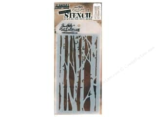 craft & hobbies: Stampers Anonymous Tim Holtz Layering Stencil - Birch