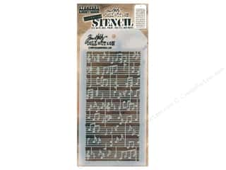 craft & hobbies: Stampers Anonymous Tim Holtz Layering Stencil - Concerto