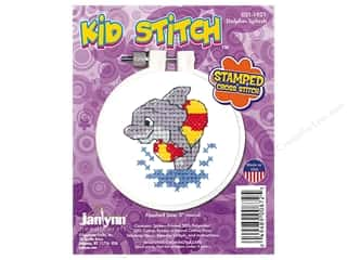 projects & kits: Janlynn Cross Stitch Kit Kid Stitch Dolphin Splash