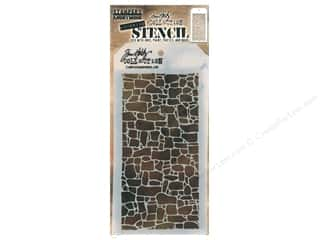 craft & hobbies: Stampers Anonymous Tim Holtz Layering Stencil - Stone