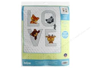 yarn & needlework: Janlynn Cross Stitch Kit Baby 34 in. x 43 in. Woodland Love