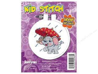 stamps: Janlynn Cross Stitch Kit Kid Stitch Rainy Day Elephant