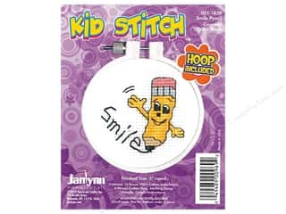 stamps: Janlynn Cross Stitch Kit Kid Stitch Smile Pencil