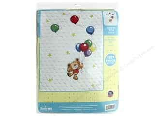 yarn & needlework: Janlynn Cross Stitch Kit Baby 34 in. x 43 in. Bear With Balloons