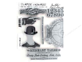 Tim Holtz Cling Mount Stamp Set 7 pc. Dapper