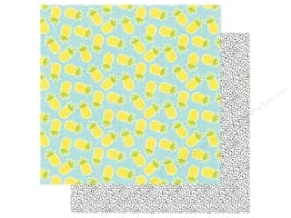 Simple Stories Collection Hello Summer Paper 12 in. x 12 in. Peace Love & Pineapples (25 pieces)