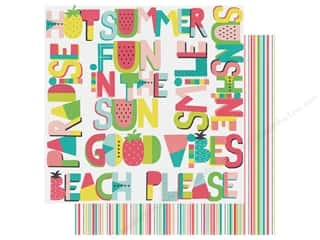 scrapbooking & paper crafts: Simple Stories Collection Hello Summer Paper 12 in. x 12 in. Who's Ready For Summer (25 pieces)