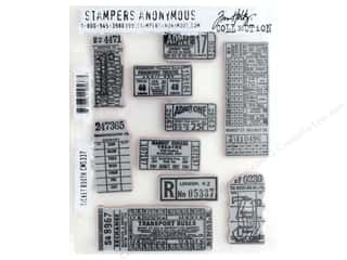 Stampers Anonymous Tim Holtz Cling Mount Stamp Set - Ticket Booth