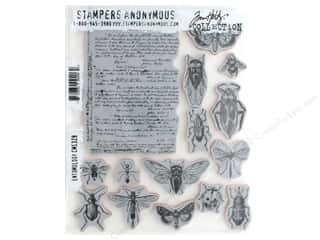 scrapbooking & paper crafts: Stampers Anonymous Tim Holtz Cling Mount Stamp Set - Entomology