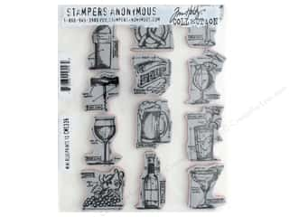Stampers Anonymous Tim Holtz Cling Mount Stamp Set - Mini Blueprints 10