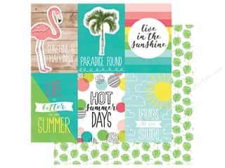 Simple Stories Collection Hello Summer Paper 12 in. x 12 in. Elements Vertical 4 in. x 6 in. (25 pieces)