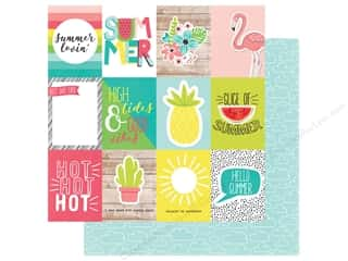 Simple Stories Collection Hello Summer Paper 12 in. x 12 in. Elements 3 in. x 4 in. (25 pieces)