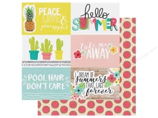 Simple Stories Collection Hello Summer Paper 12 in. x 12 in. Elements Horizontal 4 in. x 6 in. (25 pieces)