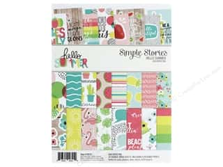 Simple Stories Collection Hello Summer Paper Pad 6 in. x 8 in.