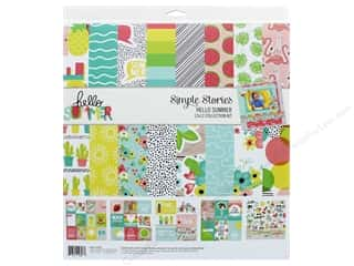 summer splash: Simple Stories Collection Hello Summer Collection Kit 12 in. x 12 in.