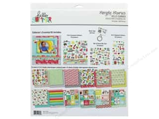 scrapbooking & paper crafts: Simple Stories Collection Hello Summer Collector's Essentials Kit