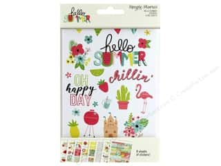 Simple Stories Collection Hello Summer Sticker 4 in. x 6 in.