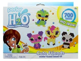 craft & hobbies: Perler H2O Water Fused Bead Kit Box Cute Friends