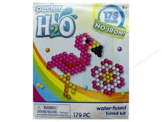 beading & jewelry making supplies: Perler H2O Water Fused Bead Kit Trial Flamingo & Flower