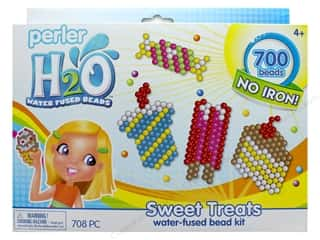 beading & jewelry making supplies: Perler H2O Water Fused Bead Kit Box Sweet Treats